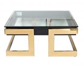 Стол журнальный квадратный с прозрачным стеклом 58DB-CT18166