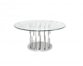 Стол журнальный круглый со стеклом GY-CT8089