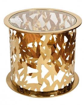 Столик журнальный GY-ET8158GOLD прозрачное стекло / золото