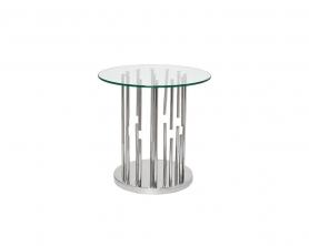 Столик журнальный круглый со стеклом GY-ЕT8089