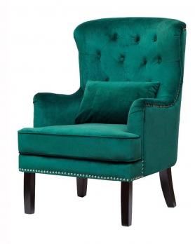 Кресло бархатное 24YJ-7004-07342/1 зеленое