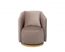 Кресло вращающееся жемчужно-серое велюровое 48MY-2573 PEG