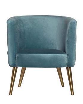 Кресло велюровое 48MY-2533 бирюзовое