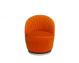 Кресло вращающееся оранжевое велюровое 48MY-2632 OR