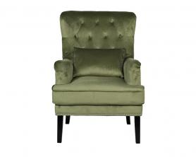 Кресло велюровое светло-зеленое (с подушкой) 24YJ-7004-040