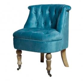 Кресло бирюзовое HD2202868-BBD на колесиках