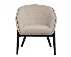 Кресло низкое велюровое бежевое PJC379-PJ634