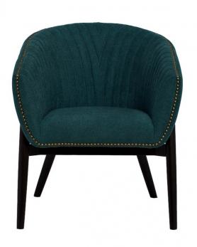 Кресло велюровое PJC379-PJ618 темно-бирюзовое