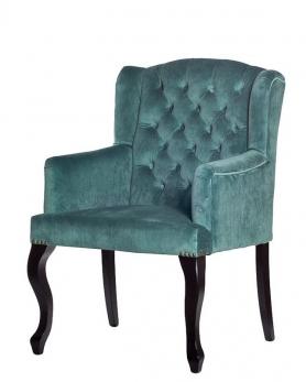 Кресло велюровое PJC591-PJ635 изумрудное