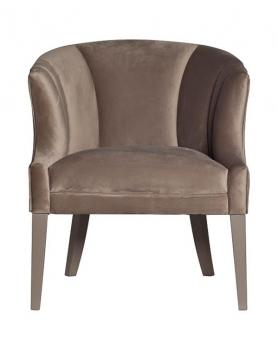 Кресло велюровое ZW-857 серое
