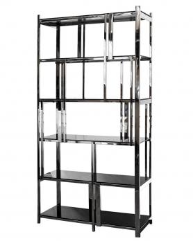 Стеллаж с черным стеклом 13RXSH3052-SILVER