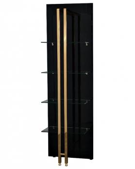 Стеллаж Marbella из черного стекла 58DB-SH17071B