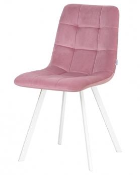 Стул LML-8025 Alex Square Розовый велюр / белый