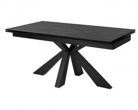 Стол ALEZIO 160 NERO KL-116 итальянская керамика/ черный каркас