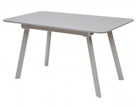 Стол DOUGLAS 140 серый матовый/ матовое стекло