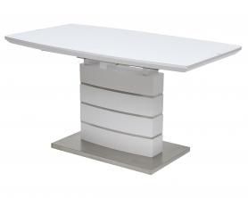 Стол KENDAL 140 белый матовый, матовое стекло