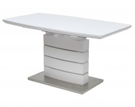 Стол WIGAN 120 белый матовый, матовое стекло