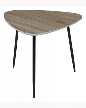 Стол журнальный WOOD 62S 4 дуб серо-коричневый винтажный