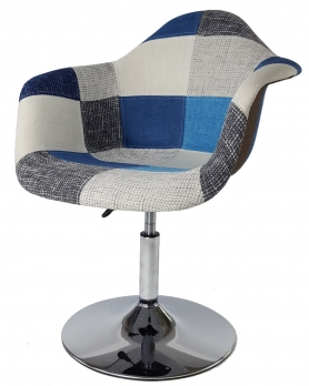 Кресло Eames Пэтчворк Индиго поворотное