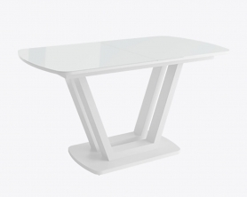 Обеденный стол ЛАВИН Белый