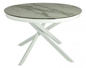 Обеденный стол MC-1907DT MK-7510-WT Керамика Белый мрамор