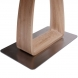 Дополнительное фото №2 - Обеденный стол VETRO 120 Крем / Дуб