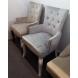 Дополнительное фото №1 - Кресло BOSCO Серый велюр / орех