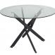 Дополнительное фото №1 - Обеденный стол НАРРО LH-02 Прозрачный / черный 100 см