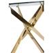 Дополнительное фото №1 - Обеденный стол НАРРО LH-02 Прозрачный / золото 100 см