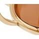 Дополнительное фото №1 - Консоль коричневое стекло/золото 13RXC4034-GOLD