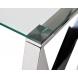Дополнительное фото №1 - Консоль прозрачное стекло/хром 47ED-CST008
