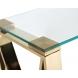 Дополнительное фото №1 - Консоль прозрачное стекло/золото 47ED-CST008/80GOLD