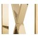 Дополнительное фото №2 - Консоль прозрачное стекло/золото 47ED-CST008/80GOLD