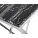 Дополнительное фото №1 - Консоль искусственный черный мрамор/мат.хром 47ED-CST026/80