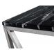 Дополнительное фото №1 - Консоль искусственный черный мрамор/мат.хром 47ED-CST023