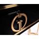 Дополнительное фото №1 - Консоль Garda Decor черный лак/золото GD-CST002