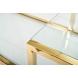 Дополнительное фото №3 - Консоль прозрачное стекло/золото GY-CST8005GOLD