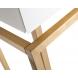 Дополнительное фото №4 - Консоль с ящиками белое стекло/матовое золото KFG070