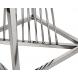 Дополнительное фото №1 - Столик журнальный 13RXET8082L-SILVER черное стекло / серебро
