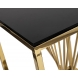 Дополнительное фото №1 - Столик журнальный 13RXET8083M-GOLD черное стекло / золото