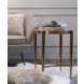 Дополнительное фото №2 - Столик журнальный со стеклянной столешницей под мрамор 19-OA-6432