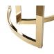 Дополнительное фото №1 - Стол журнальный золотой с темным стеклом 47ED-CT062GOLD