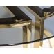 Дополнительное фото №0 - Стол журнальный Garda Decor темн.стекло/золото 47ED-GDCT002