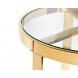 Дополнительное фото №0 - Столик журнальный с прозрачным стеклом (цвет золото) 47ED-ET031GOLD