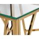Дополнительное фото №0 - Столик журнальный высокий со стеклом 47ED-FS015GOLD