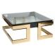 Дополнительное фото №0 - Стол журнальный квадратный с прозрачным стеклом 58DB-CT18166