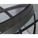 Дополнительное фото №0 - Столик журнальный GY-CT8402BL прозрачное стекло / темный хром