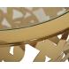 Дополнительное фото №1 - Столик журнальный GY-ET8158GOLD прозрачное стекло / золото