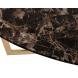 Дополнительное фото №0 - Стол обеденный круглый коричневый (искусственный мрамор) 33FS-DT3022-PG