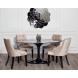 Дополнительное фото №2 - Стол обеденный овальный черный 33FS-DT3056-BL